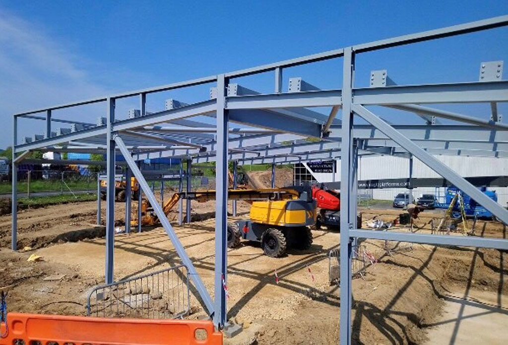 Steel frame at Fish Tank complete…