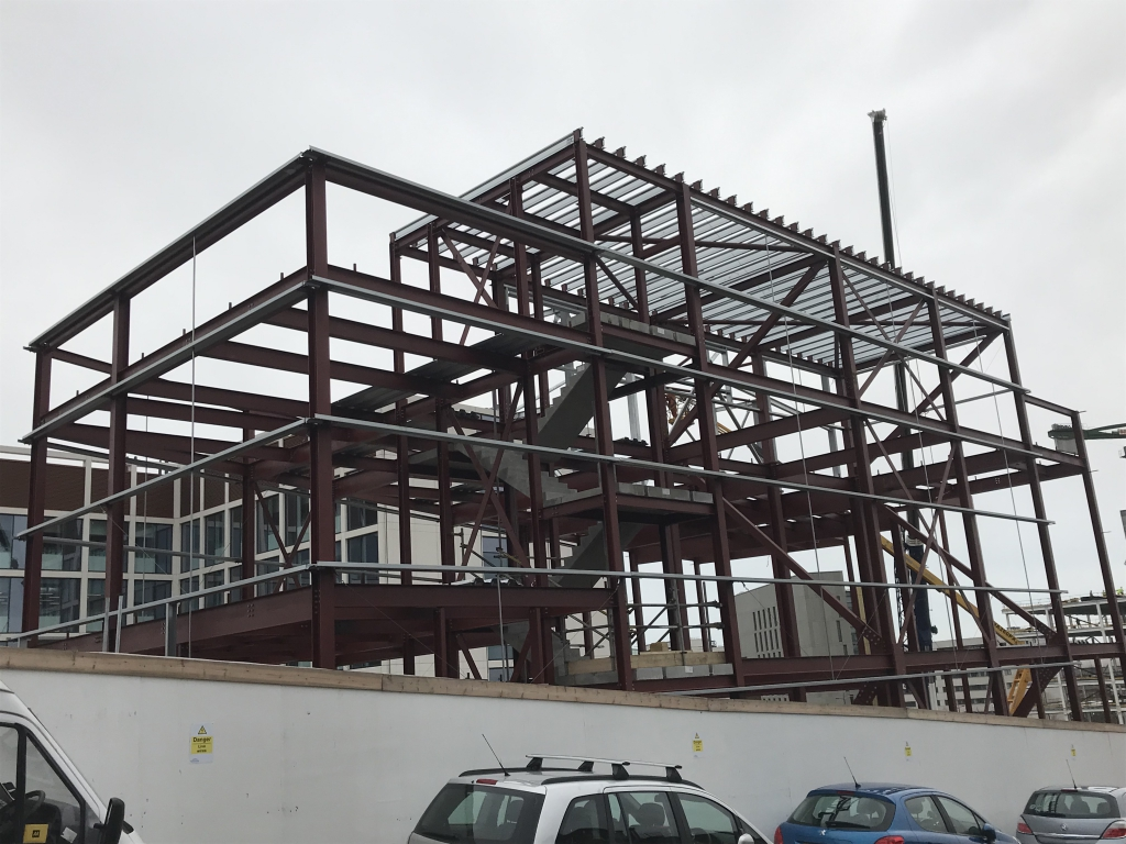 Newcastle Energy Centre…from BIM to steel frame