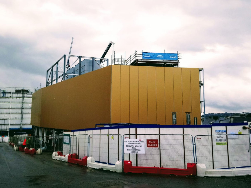 External facade nearing completion at Newcastle Energy Centre…